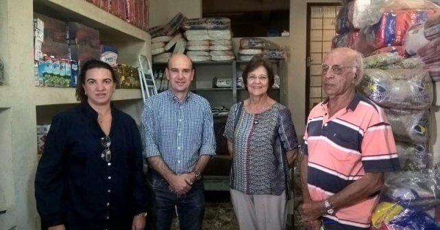 Régia Cortes,Fabiano, D. Célia e Sr.Isaías